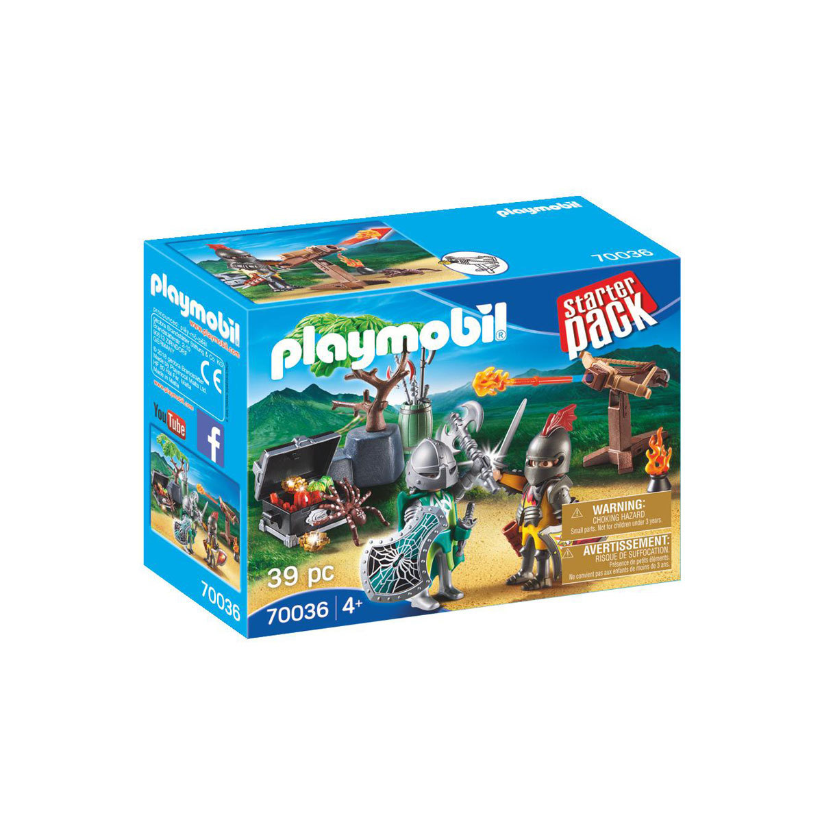 Playmobil 70036 Knights Starter Pack with Treasure from Early Learning Center