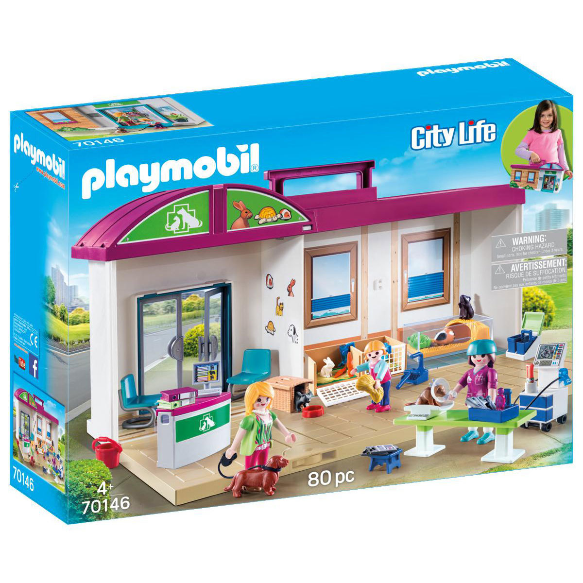 Playmobil 70146 City Life Take Along Vet Clinic from Early Learning Center