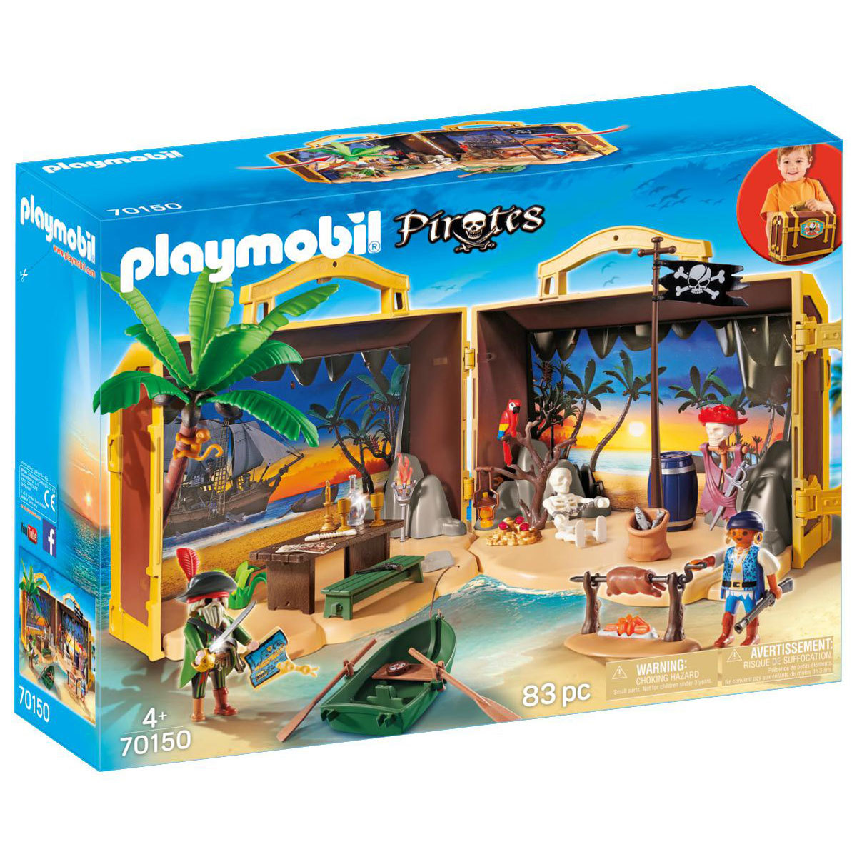 Playmobil 70150 Take Along Pirates Treasure Island from Early Learning Center