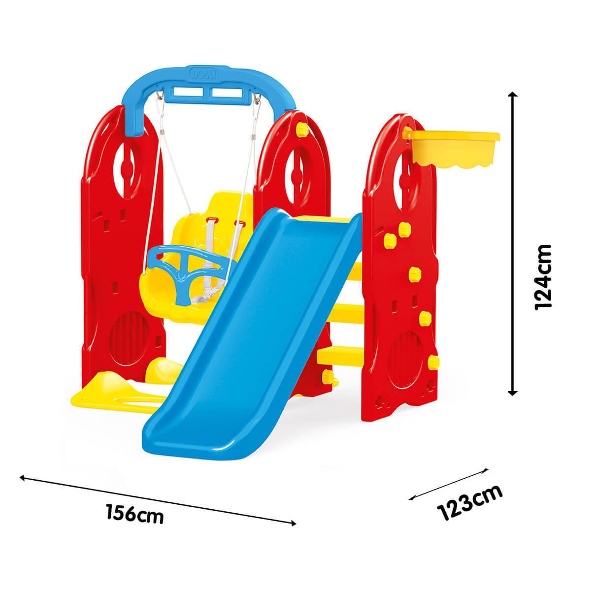 Dolu 4-in-1 Playground (H124cm x L156cm x W123cm)