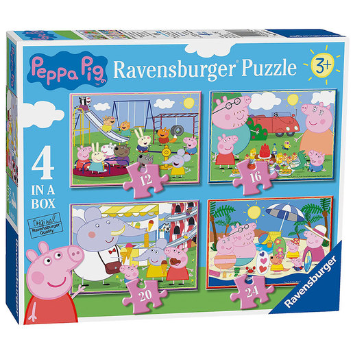 Ravensburger 4 in a Box Jigsaw Puzzle - Peppa Pig