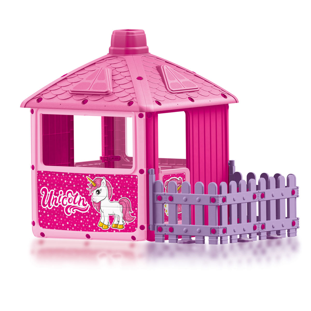 Dolu Unicorn Themed Playhouse With Fence Feature (H135cm)| Indoor Or Outdoor Use from Early Learning Center