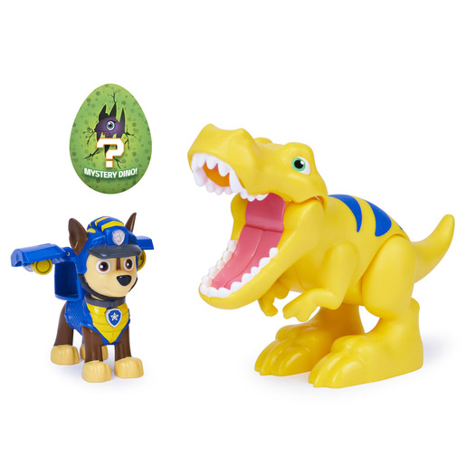 Paw Patrol Dino Rescue Figures and Mystery Dinosaur - Chase and Tyrannosaurus Rex