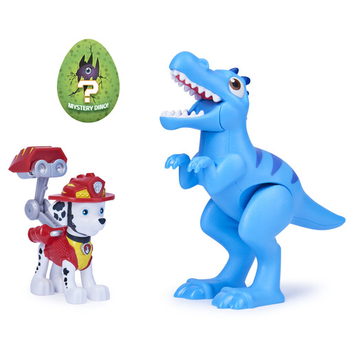 Paw Patrol Dino Rescue Figures and Mystery Dinosaur - Marshall and Velociraptor