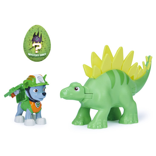 Paw Patrol Dino Rescue Figures and Mystery Dinosaur - Rocky and Stegosaurus