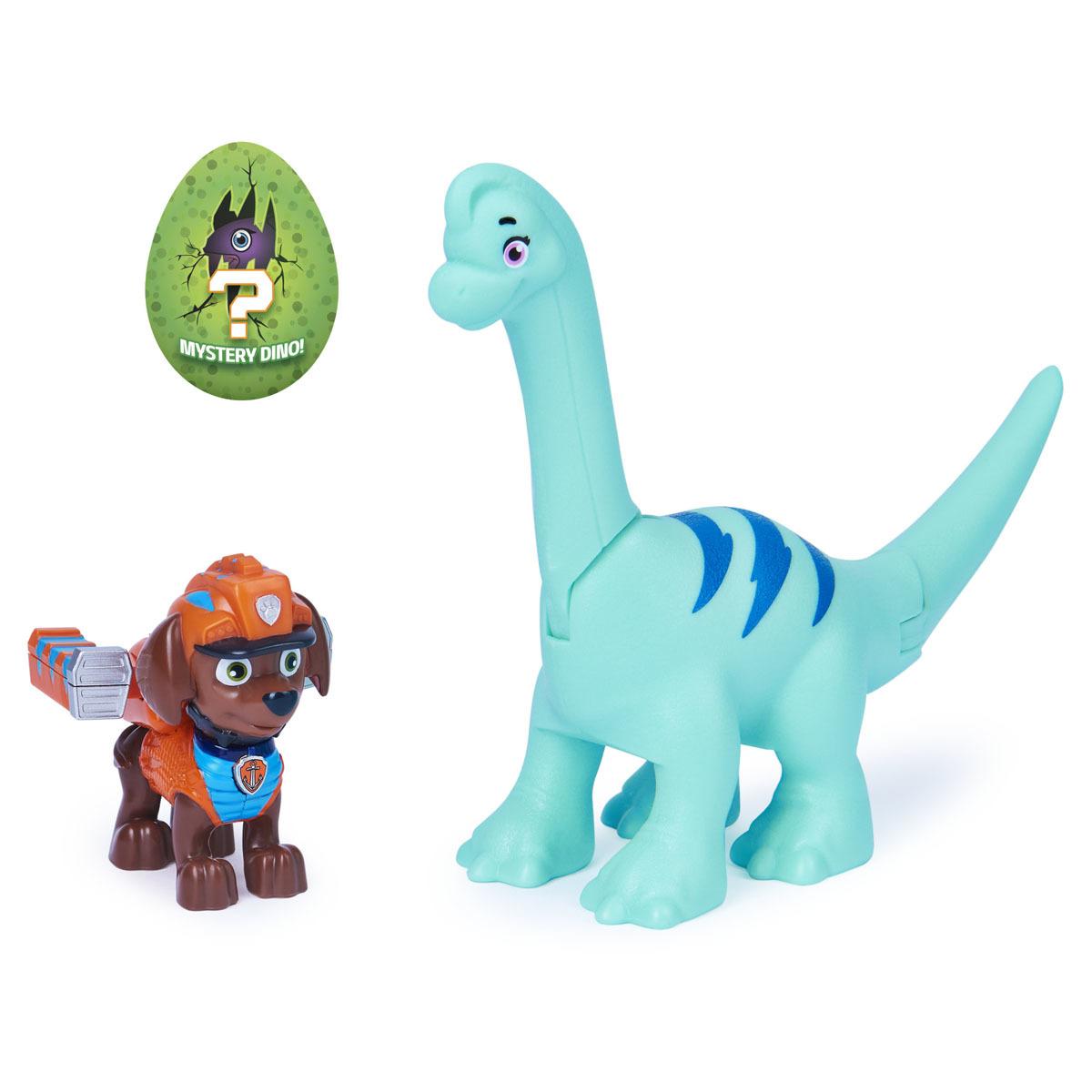 Paw Patrol Dino Rescue Figures and Mystery Dinosaur - Zuma and Brontosaurus