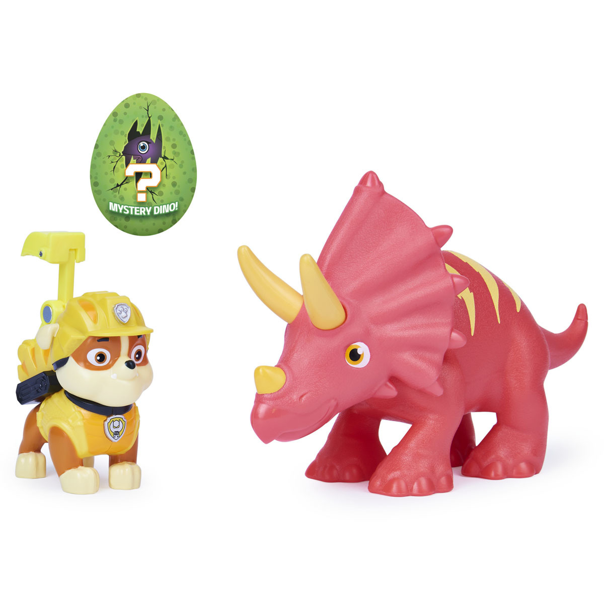 Paw Patrol Dino Rescue Figures and Mystery Dinosaur - Rubble and Triceratops from Early Learning Center