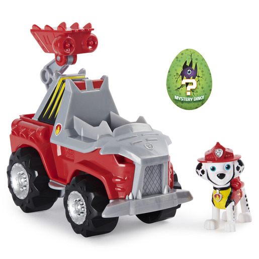 Paw Patrol Dino Rescue Deluxe Vehicle and Mystery Dinosaur - Marshall