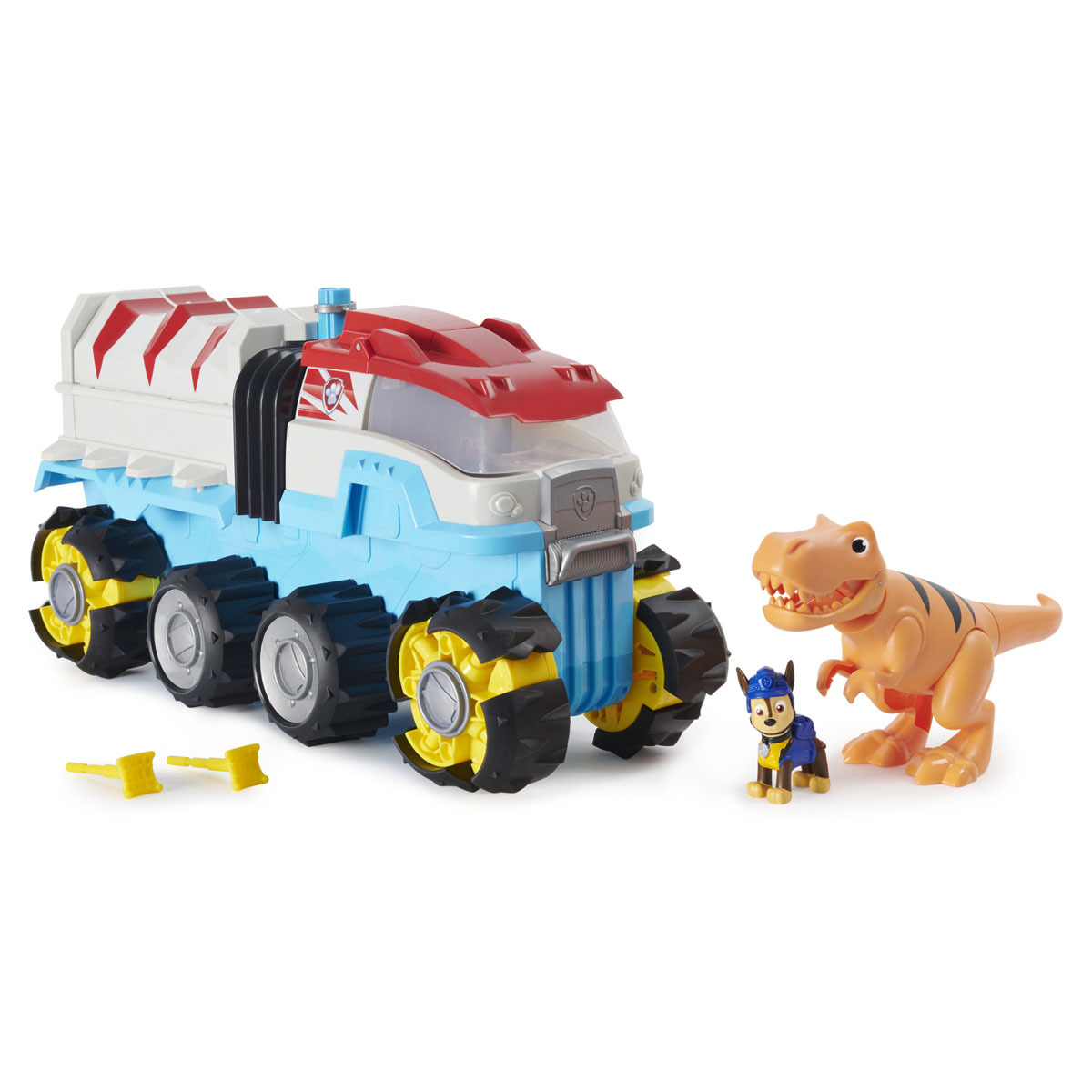 Paw Patrol Dino Rescue Dinosaur Patroller Team Vehicle with Chase and T-Rex Figures from Early Learning Center