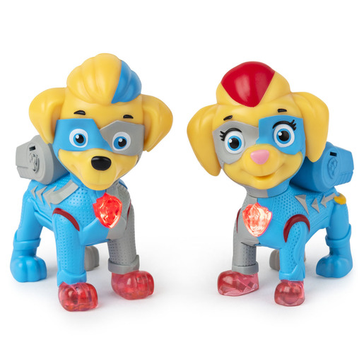 Paw Patrol Mighty Pups Super Paws Light-Up Mighty Twins Figures