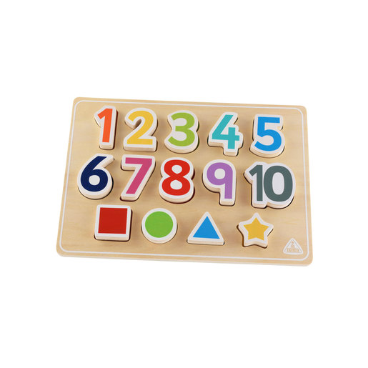 Early Learning Centre Wooden Shape and Number Puzzle