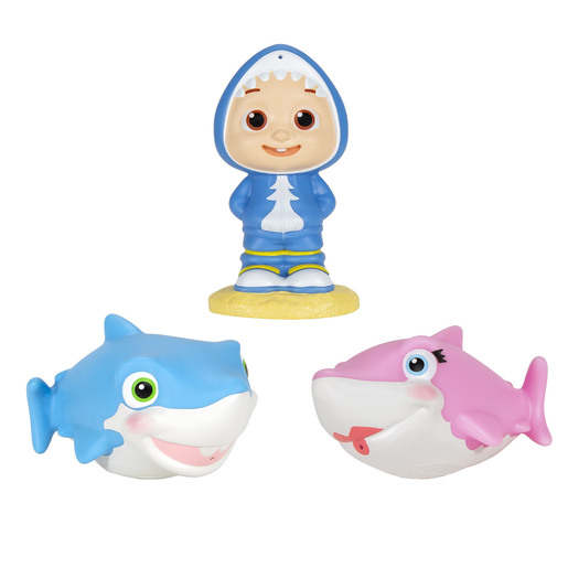 CoComelon Bath Squirters  - JJ And Sharks