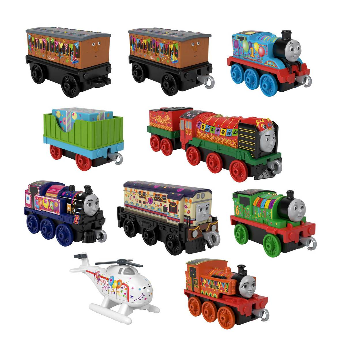Fisher-Price Thomas & Friends Celebrate with Thomas - 10 Pack Gift Train Set