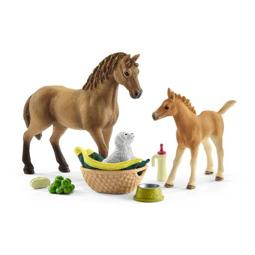Schleich Horse Club Sarah's Baby Animal Care Playset