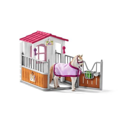 Schleich Horse Club Horse Stall with Lusitano Mare Playset