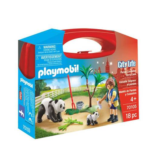 Playmobil 70105 City Life Panda Caretaker Large Carry Case Set