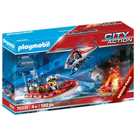 Playmobil 70335 City Action Fire Rescue Mission Playset