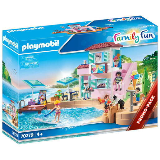 Playmobil 70279 Family Fun Waterfront Ice Cream Shop Playset