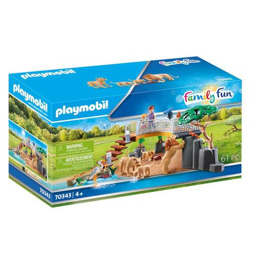 Playmobil 70343 Family Fun Outdoor Lion Enclosure