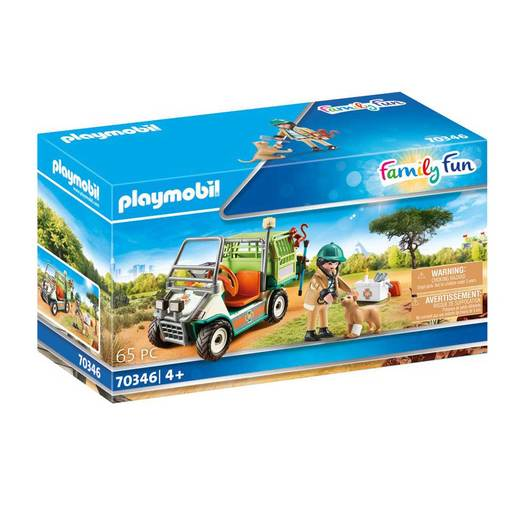Playmobil 70346 Family Fun Zoo Vet with Medical Cart