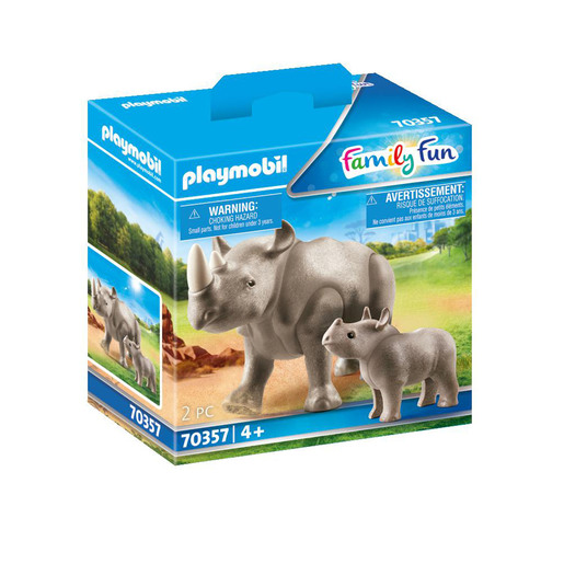 Playmobil 70357 Family Fun Rhino with Calf