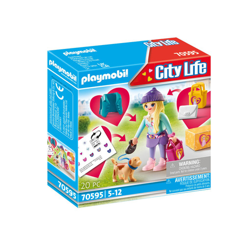 Playmobil 70595 City Life Fashionista with Dog