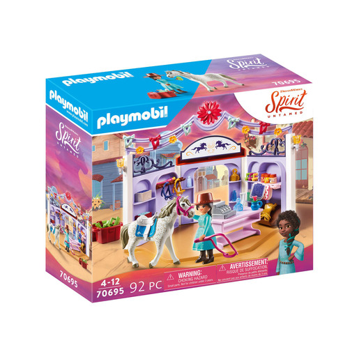Playmobil 70695 Dreamworks Spirit Untamed Miradero Tack Shop Playset