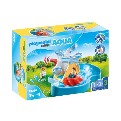 Playmobil 70268 1.2.3 Aqua Water Wheel Carousel Playset