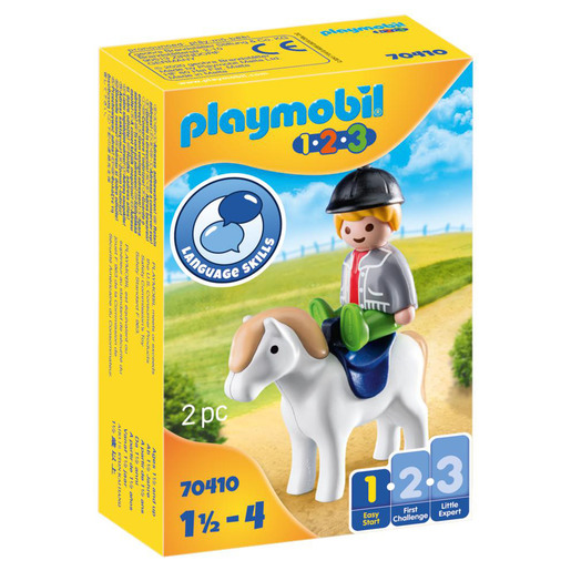 Playmobil 70410 1.2.3 Boy with Pony Figures