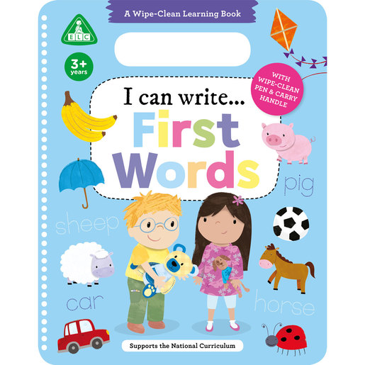 Early Learning Centre I Can Write First Words Wipe Clean Book