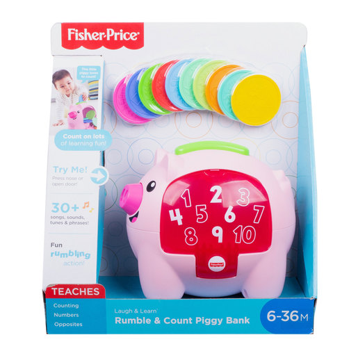 Fisher-Price Laugh & Learn: Count & Rumble Piggy Bank