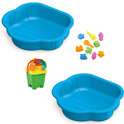 Sand & Water Play Pit Set - Blue