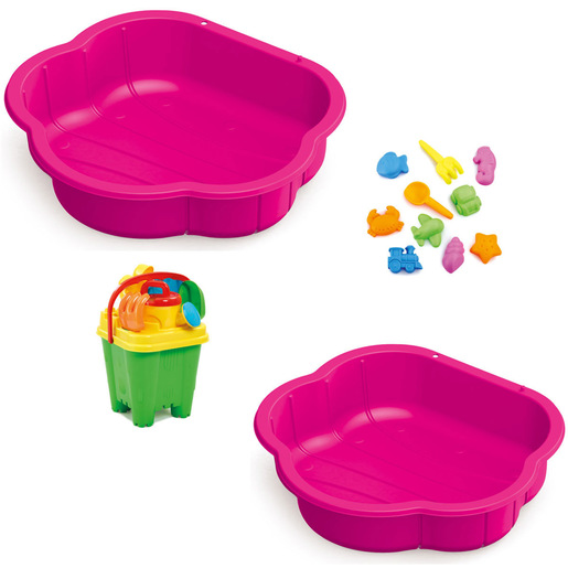 Sand & Water Play Pit Set  with Accessories - Pink