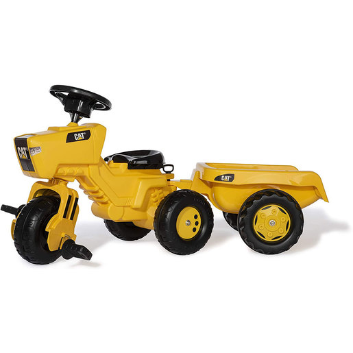 CAT 3 Wheeled Ride-On Tractor & Trailer With Electronic Steering Wheel