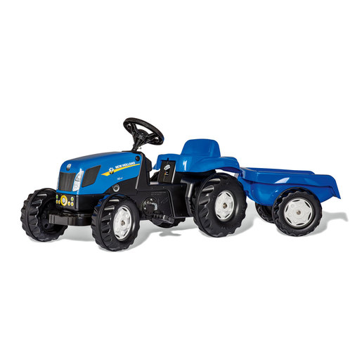 Rolly Kid New Holland Ride-On Tractor & Trailer
