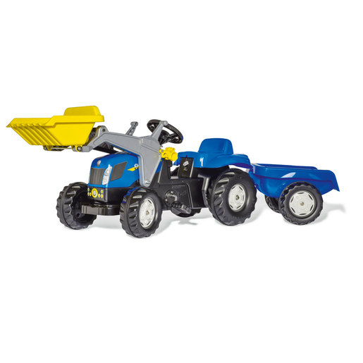 Rolly Kid New Holland Ride-On Tractor with Frontloader & Trailer