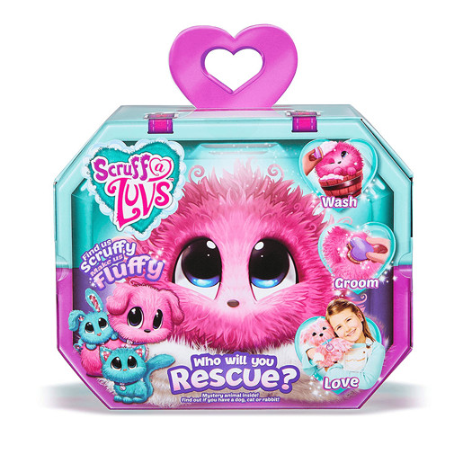 Scruff A Luvs Rescue Pet Mystery Soft Toy - Pink